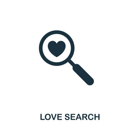 Love Search icon. Premium style design from valentines day icons collection. Pixel perfect love search icon for web design, apps, software, printing usage.