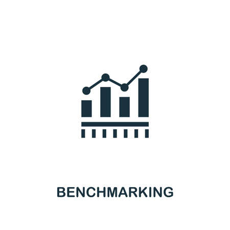 Benchmarking icon. Premium style design from business management collection. Pixel perfect benchmarking icon for web design, apps, software, printing usage.