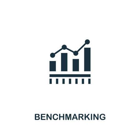 Benchmarking-Symbol. Premium-Style-Design aus der Business-Management-Kollektion. Pixel perfektes Benchmarking-Symbol für Webdesign, Apps, Software, Drucknutzung.