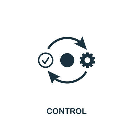Control icon. Premium style design from business management collection. Pixel perfect control icon for web design, apps, software, printing usage.
