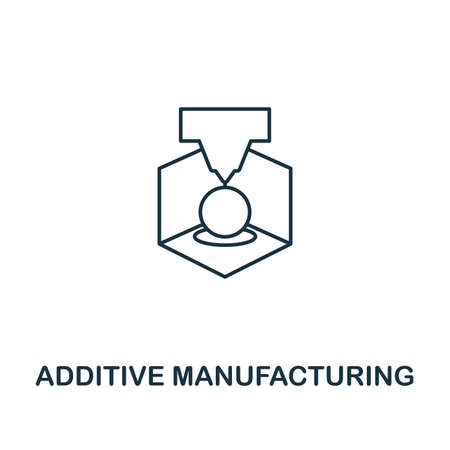 Additive Manufacturing outline icon. Thin line style industry 4.0 icons collection. UI and UX. Pixel perfect additive manufacturing icon for web design, apps, software usage.