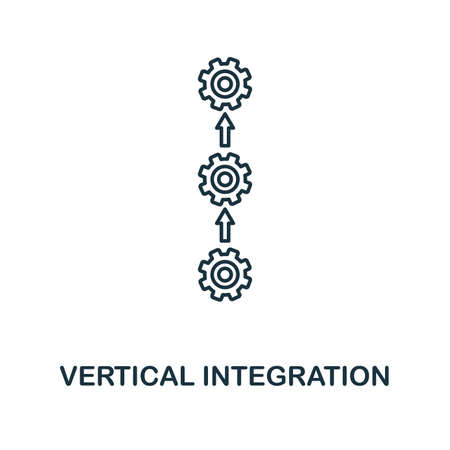 Vertical Integration outline icon. Thin line style industry 4.0 icons collection. UI and UX. Pixel perfect vertical integration icon for web design, apps, software usage.