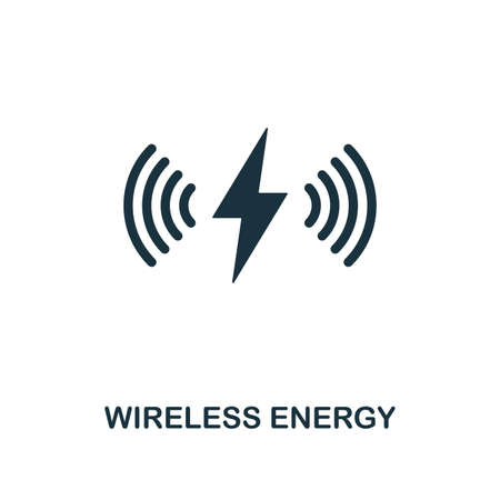 Wireless Energy icon. Premium style design from future technology icons collection. Pixel perfect Wireless Energy icon for web design, apps, software, print usage