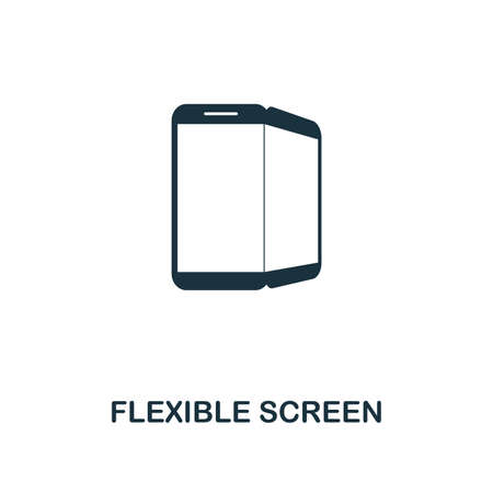 Flexible Screen icon. Premium style design from future technology icons collection. Pixel perfect Flexible Screen icon for web design, apps, software, print usage
