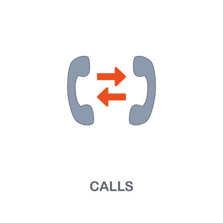 Call icon. Premium two colors style design from contact us collection. Pixel perfect call icon for web design, apps, software, printing usage.