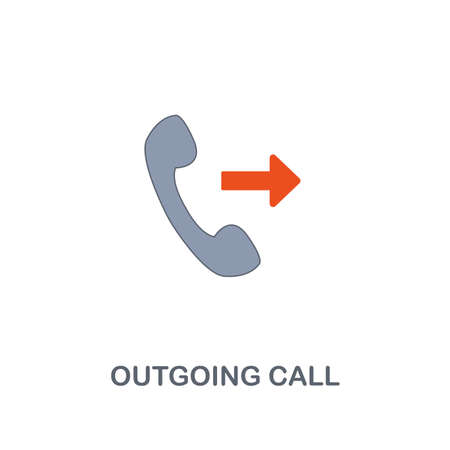 Outgoing Call icon. Premium two colors style design from contact us collection. Pixel perfect outgoing call icon for web design, apps, software, printing usage.