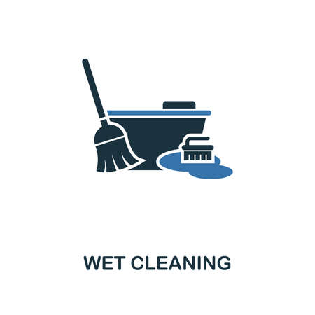 Wet Cleaning icon. Creative two colors design from cleaning icons collection. UI and UX usage. Illustration of wet cleaning icon. Pictogram isolated on white. Illustration