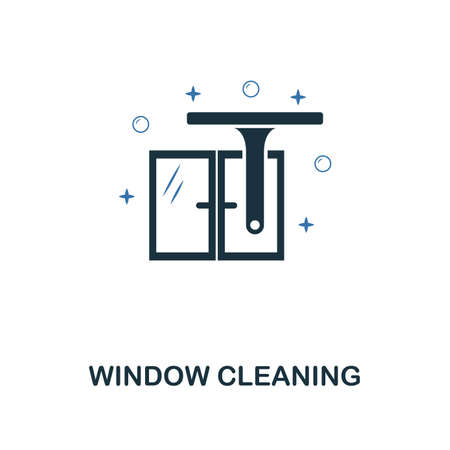 Window Cleaning icon. Creative two colors design from cleaning icons collection. UI and UX usage. Illustration of window cleaning icon. Pictogram isolated on white