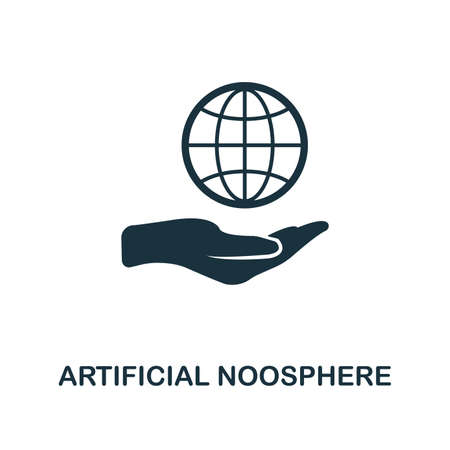 Artificial Noosphere icon. Creative element design from fintech technology icons collection. Pixel perfect Artificial Noosphere icon for web design, apps, software, print usage