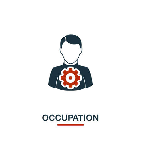 Occupation icon. Premium style design from teamwork icon collection. UI and UX. Pixel perfect Occupation icon for web design, apps, software, print usage. 向量圖像