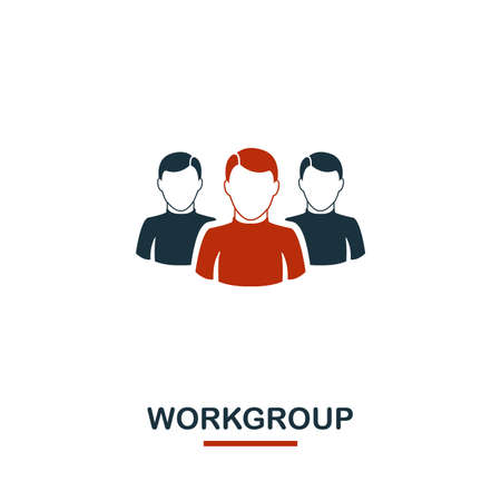 Workgroup icon. Premium style design from teamwork icon collection. UI and UX. Pixel perfect Workgroup icon for web design, apps, software, print usage. Illustration