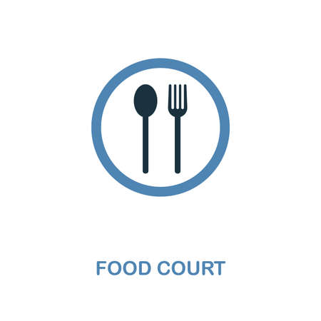 Food Court icon. Monochrome style design from shopping center sign collection. UI. Pixel perfect simple pictogram food court icon. Web design, apps, software, print usage.