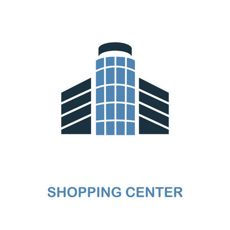 Shopping Center icon. Monochrome style design from shopping center sign icon collection. UI. Pixel perfect simple pictogram shopping center icon. Web design, apps, software, print usage. Ilustrace