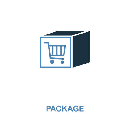 Package icon. Monochrome style design from shopping center sign collection. UI. Pixel perfect simple pictogram package icon. Web design, apps, software, print usage. Ilustrace