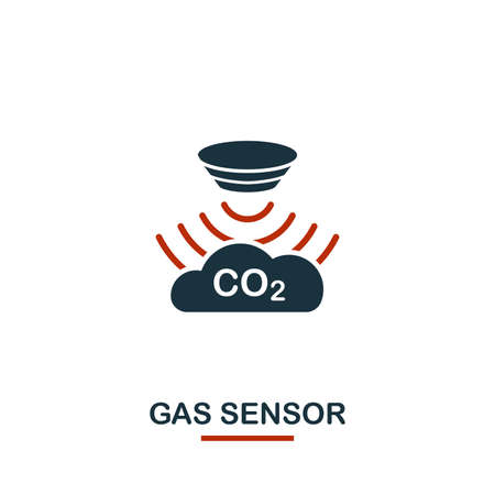 Gas Sensor icon from sensors icons collection. Creative two colors design symbol gas sensor icon. Web design, apps, software usage. UI and UX