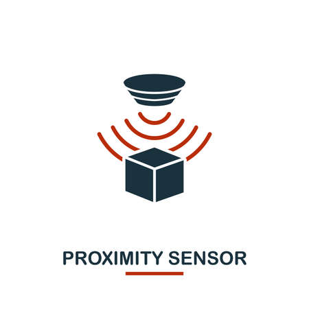 Proximity Sensor icon from sensors icons collection. Creative two colors design symbol proximity sensor icon. Web design, apps, software usage. UI and UX Çizim