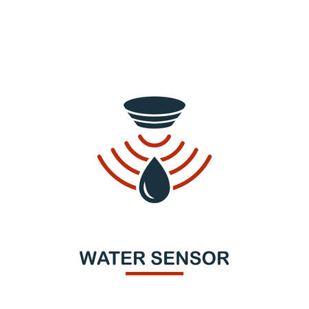 Water Sensor icon from sensors icons collection. Creative two colors design symbol water sensor icon. Web design, apps, software usage. UI and UX