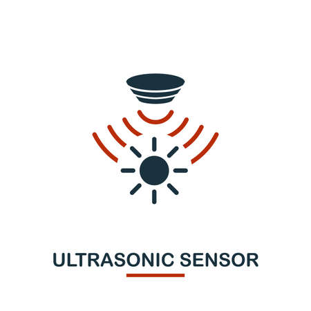 Icône de capteur à ultrasons de la collection d'icônes de capteurs. Icône créative de capteur à ultrasons de symbole de conception de deux couleurs. Conception de sites Web, applications, utilisation de logiciels. UI et UX