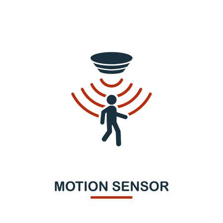 Bewegungssensor-Symbol aus der Sammlung von Sensorsymbolen. Kreatives zweifarbiges Design-Symbol für Bewegungssensor. Webdesign, Apps, Softwarenutzung. Benutzeroberfläche und UX Vektorgrafik