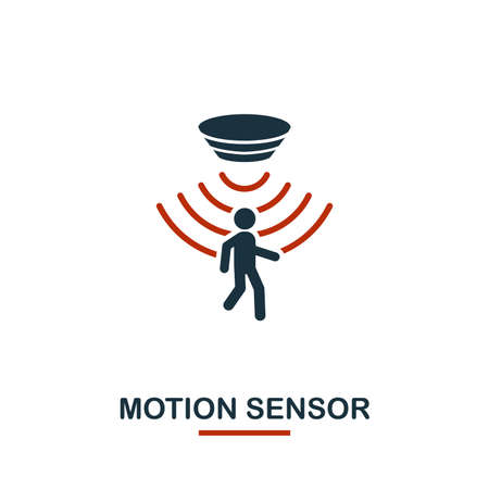 Motion Sensor icon from sensors icons collection. Creative two colors design symbol motion sensor icon. Web design, apps, software usage. UI and UX Vektorové ilustrace