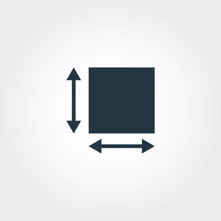 Area Measurement icon from measurement icons collection. Creative element design area measurement icon. Web design, apps, software usage. UI and UX Vektorgrafik