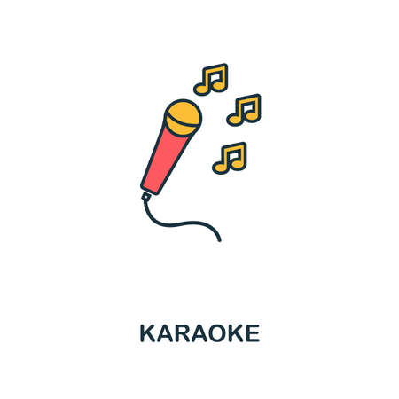 Karaoke icon. Creative 2 colors design fromKaraoke icon from party icon collection. Perfect for web design, apps, software, printing.