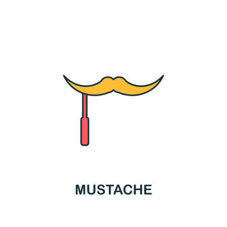 Mustache icon. Creative 2 colors design fromMustache icon from party icon collection. Perfect for web design, apps, software, printing.