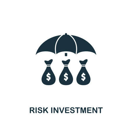 Risk Investment icon. Creative element design from risk management icons collection. Pixel perfect Risk Investment icon for web design, apps, software, print usage 版權商用圖片 - 119100809