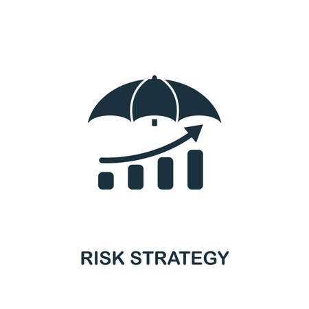 Risk Strategy icon. Creative element design from risk management icons collection. Pixel perfect Risk Strategy icon for web design, apps, software, print usage Illustration