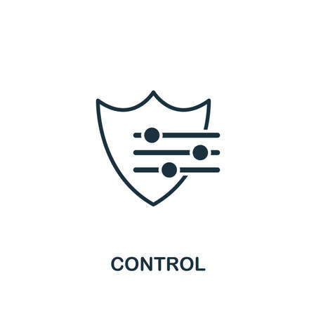 Control icon. Creative element design from risk management icons collection. Pixel perfect Control icon for web design, apps, software, print usage Vectores