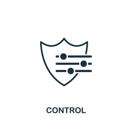 Icona di controllo. Elemento di design creativo dalla collezione di icone di gestione del rischio. Pixel Perfect Control icona per web design, app, software, utilizzo della stampa