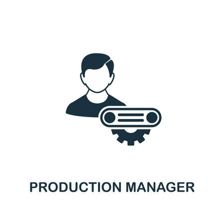 Production Manager icon. Creative element design from risk management icons collection. Pixel perfect Production Manager icon for web design, apps, software, print usage