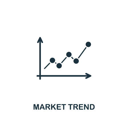 Market Trend icon. Creative element design from risk management icons collection. Pixel perfect Market Trend icon for web design, apps, software, print usage