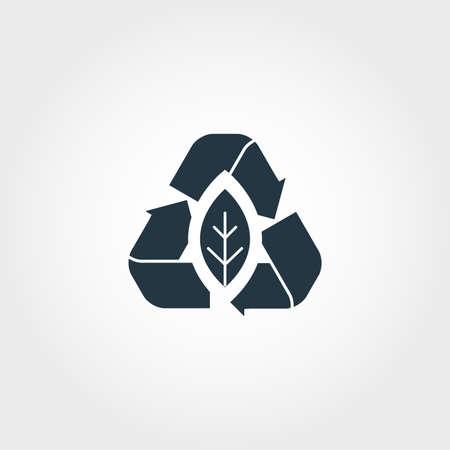 Icono creativo de emisión cero. Diseño de estilo monocromo de la colección de iconos de urbanismo. Icono de cero emisiones para diseño web, aplicaciones, software, uso de impresión