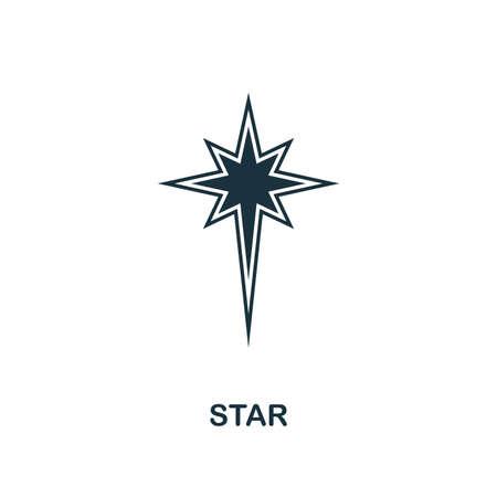 Ikona gwiazdki. Kreatywny projekt elementu z kolekcji ikon wielkanocnych. Pixel perfect Star ikona do projektowania stron internetowych, aplikacji, oprogramowania, drukowania