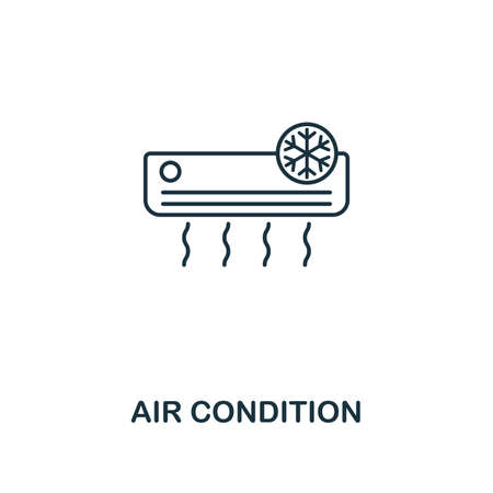 Air Condition icon. Thin style design from household icons collection. Creativeair condition icon for web design, apps, software, print usage Illustration