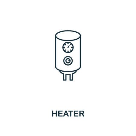 Heater icon. Thin style design from household icons collection. Creativeheater icon for web design, apps, software, print usage