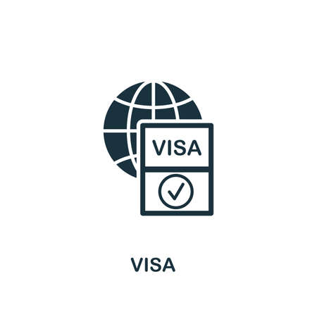Visa icon. Creative element design from icons collection. Pixel perfect Visa icon for web design, apps, software, print usage.