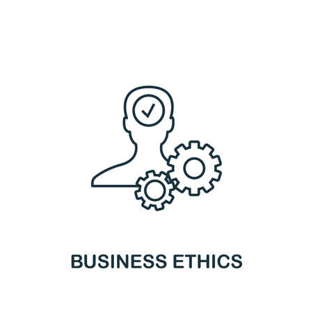 Business Ethics icon. Thin line design symbol from business ethics icons collection. Pixel perfect business ethics icon for web design, apps, software, print usage.