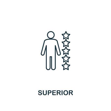 Icône supérieure. Symbole de conception de ligne mince de la collection d'icônes d'éthique des affaires. Icône supérieure parfaite de pixel pour la conception Web, les applications, les logiciels, l'utilisation de l'impression.