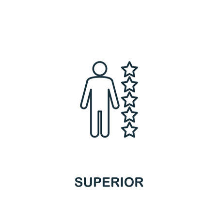Superior icon. Thin line design symbol from business ethics icons collection. Pixel perfect superior icon for web design, apps, software, print usage. Illustration