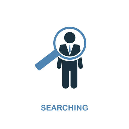 Searching creative icon. Simple illustration. Searching icon from human resources collection. Two colors element for web, apps, software, print.