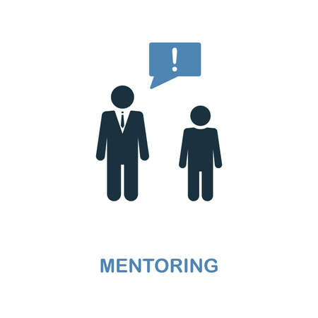 Mentoring creative icon. Simple illustration. Mentoring icon from human resources collection. Two colors element for web, apps, software, print.