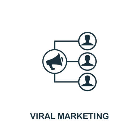 Viral Marketing icon. Creative element design from content icons collection. Pixel perfect Viral Marketing icon for web design, apps, software, print usage.