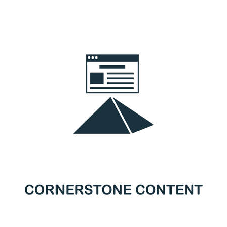 Cornerstone Content icon. Creative element design from content icons collection. Pixel perfect Cornerstone Content icon for web design, apps, software, print usage.