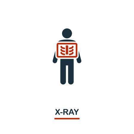 X-Ray icon. Creative design from healthcare icons collection. Two color X-Ray icon for web design, apps, software, print usage. Illustration
