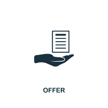 Offer icon. Creative element design from content icons collection. Pixel perfect Offer icon for web design, apps, software, print usage. Vectores