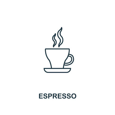 Espresso icon. Thin line symbol design from coffe shop icon collection. UI and UX. Creative simple espresso icon for web and mobile.
