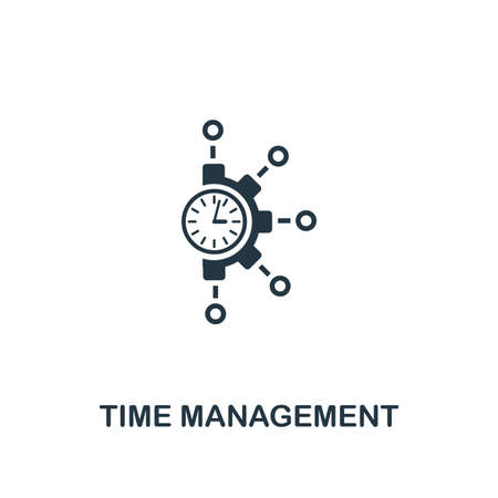 Icône de gestion du temps. Conception d'éléments créatifs de la collection d'icônes de productivité. Icône Pixel Perfect Time Management pour la conception Web, les applications, les logiciels, l'utilisation de l'impression.