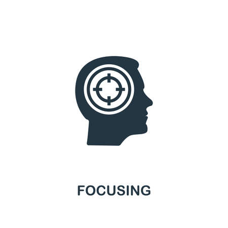 Focusing icon. Creative element design from productivity icons collection. Pixel perfect Focusing icon for web design, apps, software, print usage.